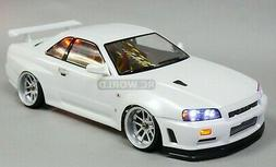 1/10 RC Car BODY Shell NISSAN SKYLINE R34 190mm *Unpainted*