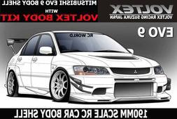 1/10 RC Car DRIFT  Body Shell MITSUBISHI EVOLUTION EVO 9 W/