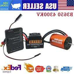 For 1/10 RC Car Truck B3650 4300KV Brushless Motor+60A ESC +