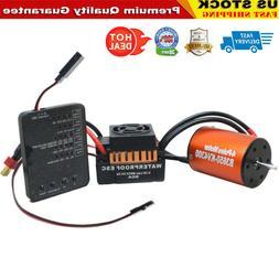 For 1/10 RC Car Truck B3650 4300KV Brushless Motor+60A ESC +