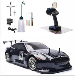 1:10 RC GTR R35 Car 4WD Nitro Gas Powered Engine On Road Dri