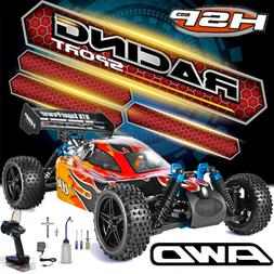 HSP 1/10 Scale RC Car Nitro Power Off Road Buggy 4wd Two Spe