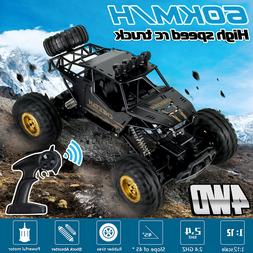 1:12 2.4G 4WD Monster Off-Road RC Car Crawler High Speed Rem