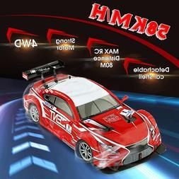 1:16 58km/h RC Drift Racing Car 4WD 2.4G High Speed GTR Remo