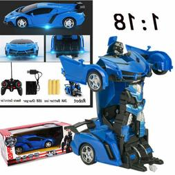 1 18 transformer rc robot car remote