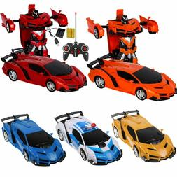 1:18 Transformer RC Robot Car Remote Control 2 IN 1 Kids Boy