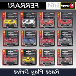 Bburago 1:64 Scale Car Models Kit Ferrari Race Play Series A