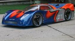 Delta Plastik Jag XRS 1/8 Scale GT RC Car Speed Run Body Tra