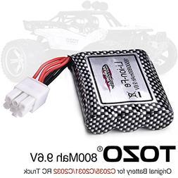 TOZO 15-DJ02 Battery 9.6V 800mAh for C2035 C2031 C2032 RC CA