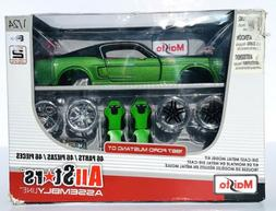 MAISTO 1967 FORD MUSTANG GT MODEL KIT 1:24 SCALE ALL STAR AS