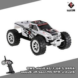 WLtoys A999 2.4G 1/24 Scale 2WD Speed Switch RTR Off-road Bu