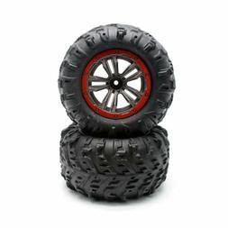 Hosim 2 X 1/10 RC Car Tires&Wheel Rim Rubber for 9125 RC Mon