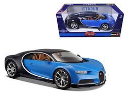 2016 BUGATTI CHIRON BLUE 1:18 DIECAST MODEL CAR BY BBURAGO 1