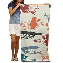 2017 New Style Cotton Towel Color Vintage Airplane 100% Cott