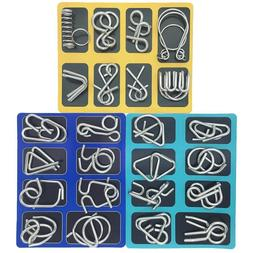 24 set Brain Teasers Metal Puzzles for Adults Nail Puzzle Br