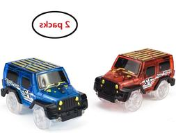 2pc Cars for Magic Tracks Light Up Vehicle Toy Racing Car wi