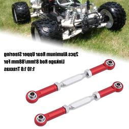 2pcs Aluminum Rear Upper Steering Linkage Rod 81mm/88mm For