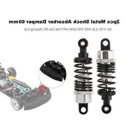 2pcs RC Car Parts Metal Shock Absorber Damper 60mm for 1/10