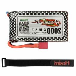 Hosim 2S 7.4V 25C 2000mAh Li-Po Rechargeable Battery Pack Fo