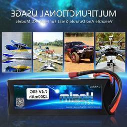 Hosim 2S 7.4V 4200mAh 60C Lipo Battery Deans T Plug for RC C