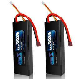 Zeee 2s Lipo Battery 7.4V 50C 5200mAh RC Lipo Batteries Hard