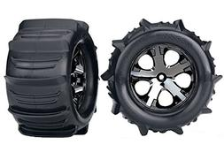 Traxxas 3689 Stampede Paddle Tires and Wheels Pre-Glued and