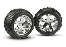 Traxxas 3770 Alias Tires Pre-Glued on All Star Chrome Wheels