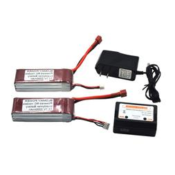 Blomiky 2 Pack 11.1V 3S 2200mAh 25C Lipo Battery Pack with T