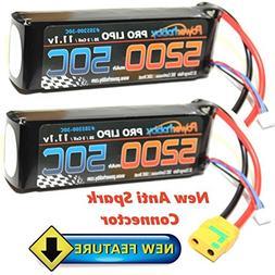 PowerHobby 3S 11.1V 5200mAh 50C Lipo Battery 2 Pack w XT90 C