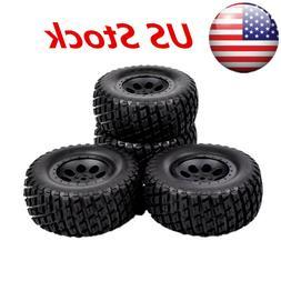 4 pcs 12mm Hex Short Course Truck Tires&Wheel For HPI 1:10 R