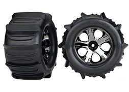 Traxxas 4175 Stampede Paddle Tires and Wheels Pre-Glued and