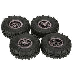 4Pcs 1.9'' 110mm 1/10 Rock Crawler Tires Beadlock Wheel Rim