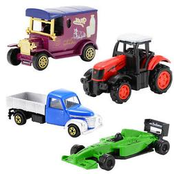 4Pcs Diecast Metal Car Models Children Play Toy Car Vehicle