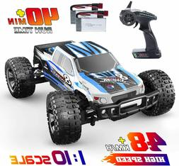 RC Monster Trucks Car 1:10 Scale High Speed 4WD 2.4Ghz Off-r