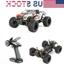 4WD RC Monster Truck Off-Road Vehicle 1/10 Scale 2.4HGz Elec