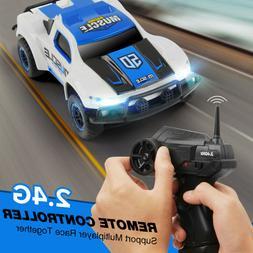 4WD Renote Control RC Car LED 2.4Ghz 1/43 Mini Racing Trcuk