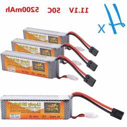 4x ZOP 5200mAh 3S 11.1V 50C LIPO BATTERY TRX Plug TRAXXAS ARRMA BUGGY PLANE RC M