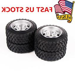 4X 68mm 12mm Hex Rubber Tire Wheel Rims For HSP HPI RC 1:10