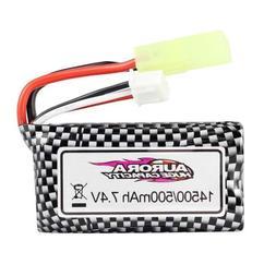 Hosim 500mAh 7.4V 30C 2S LiPo Battery Pack For 1/16 RC Car T