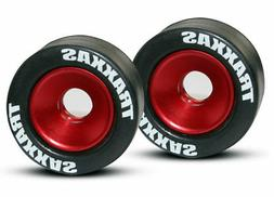 Traxxas 5186 Aluminum Wheelie Bar Wheel Set w/Rubber Tires