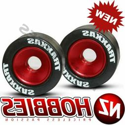 Traxxas 5186 Mntd Wheelie Bar Tires/Whls Red  Stampede 4x4 V