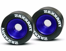 Traxxas 5186A Mntd Wheelie Bar Tires/Whls Blue  Stampede 4x4