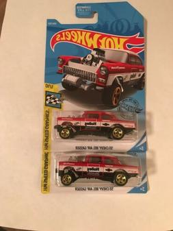 Hot Wheels 55 Chevy Bel Air Gasser Holley Racing L Case 2019