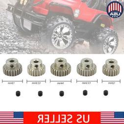 5Pcs 21T-25T 48DP Metal Pinion Motor Gear Set Kit for 1/10 R