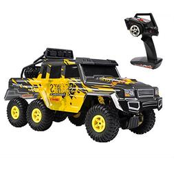 Hapinic 6WD Remote Control Car with LED Big Size Crawlers 2.