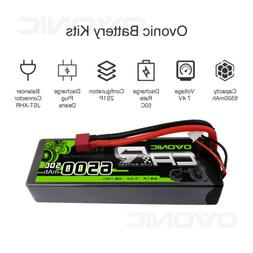 7.4V 50C 6500mAh 2S RC Lipo Battery Pack Deans Plug for RC V