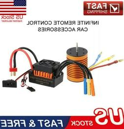 9T 4370KV 1/10 RC Car Brushless Motor and 60A ESC Speed Cont
