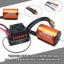 9T 4370KV Brushless Motor+60A ESC Speed Controller Combo ME7