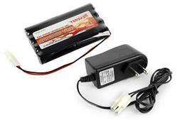 Combo: Tenergy 9.6V 2000mAh NiMH Battery Pack + 12V 300mA Pa