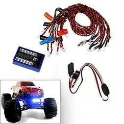 SUNDERPOWER RC Flashing LED Lighting Kit for Scale Cars and